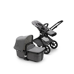 Коляска 2 в 1 Bugaboo Fox2 Complete Black/grey melange